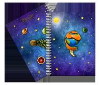 Fruity Space - anteckningsblock