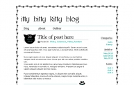 itty bitty kitty blog